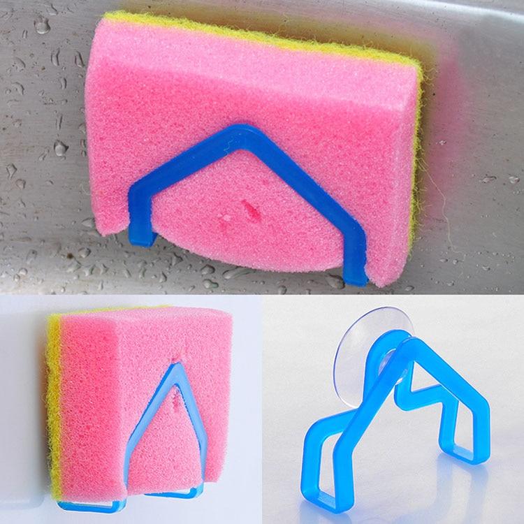 2015 Hot Selling Wash cloth rack suction cup sponge holder clip dishclout storage rack