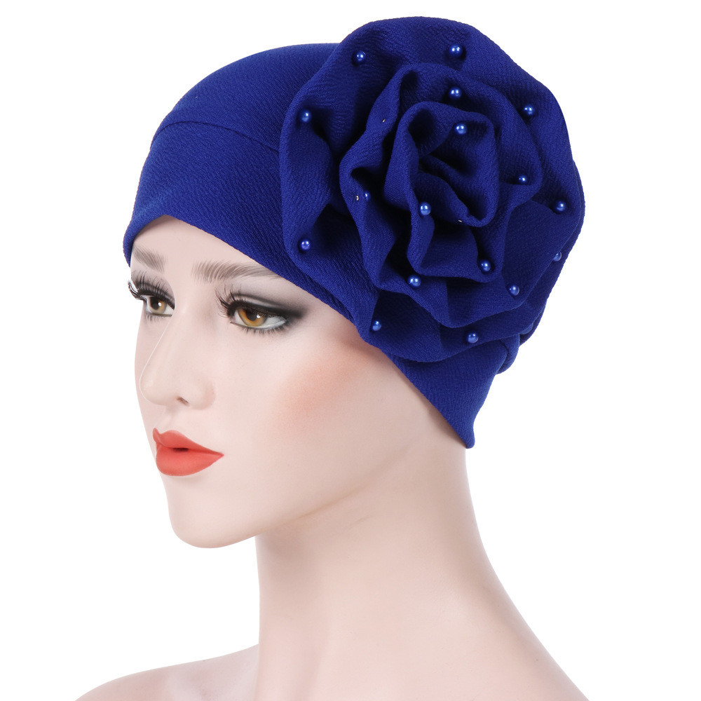 Muslim Ruffle Cancer Chemo Beanie Scarf Turban Wrap Cap Women Beading India Hat AU.28