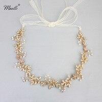 Européenne haut de gamme cheveux mariée tête de mariage bijoux et accessoires faits à la main perle bande de cheveux couronne