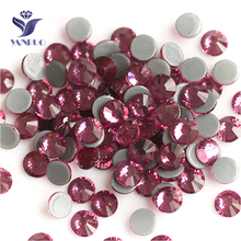 YANRUO 2058HF SS20 Rose 1440Pcs Hotfix Rhinestones Flatback Strass Hot Fix Stones And Crystals DIY For Craft yanruo 2058hf ss20 hyacinth 1440pcs glass strass flat back stones and crystals hot fix rhinestones for shoes accessories