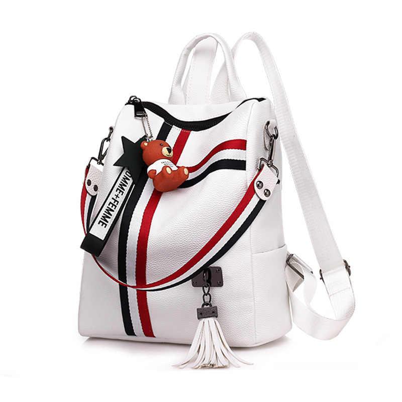 Новая модная женская сумка на молнии в стиле ретро, 2018, Высококачественная школьная сумка из кожи, сумка на плечо, Молодежные сумки, кожаная сумка с кисточками