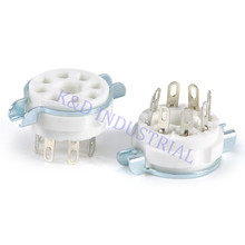 2pcs 8pin Ceramic vacuum tube audio Amplifier socket octal valve For KT88 EL34B цена и фото