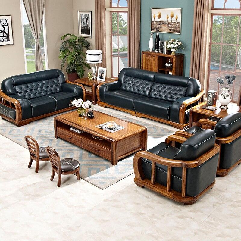 €20812.8 |Véritable cuir canapé lit meubles salon ensemble chine livraison  gratuite futon muebles de sala inclinable canapé pouf amour siège-in ...