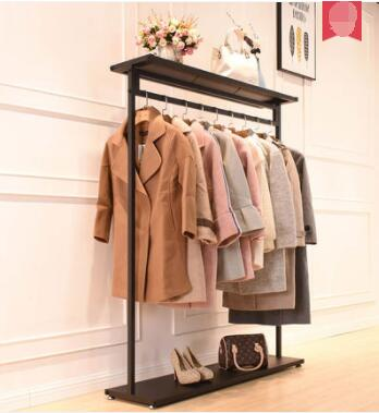 Clothing store display stand floor standing boys and girls clothing shelf display rack simple clothes rack side hanging hanging