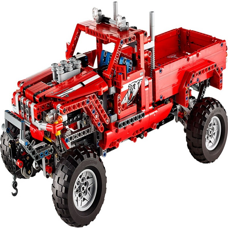 3362 1063Pcs Technic City 2 Model Customized Pick Up Truck Model Building Blocks Enlighten Toys For Children Compatible Legoe 3345 technic city series mini container truck model building blocks enlighten figure toys for children compatible 8065