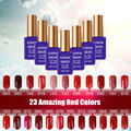 Gel Nail Polish 23 Amazing Red colors Long-lasting Soak-off UV/LED nail lacquer LED UV 15ml 1 pcs Hot Sale Nail Gel