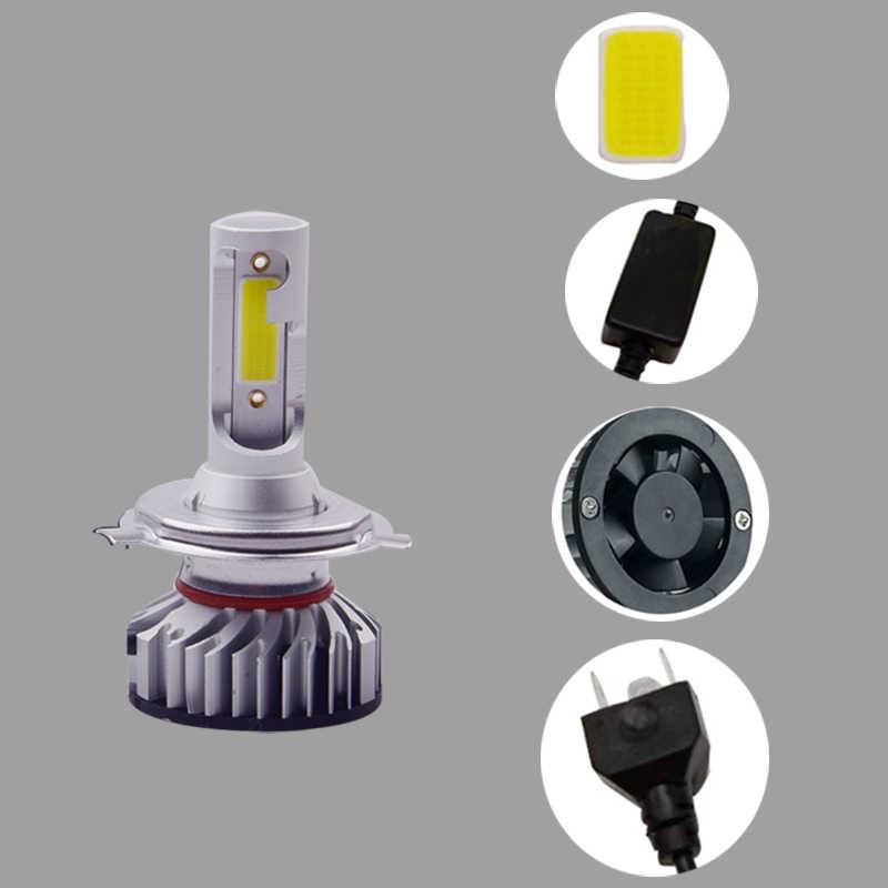 2X новое обновление мини Canbus H4 H7 светодиодный фары комплект 76 Вт 10000LM/комплект H1 H11 9005 HB3 9006 HB4 H8 6000 K 3000 K автомобильные лампочки zccessories