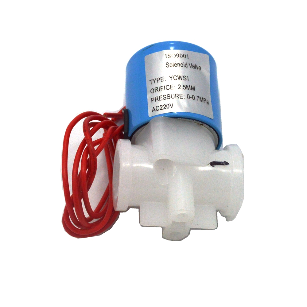 Normally Closed 1/4 NPT female thread PP Plastic Electric Solar Inlet Water air oil Solenoid Valve 220V 12v 24v