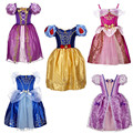 Retail Girl Dress Princess Cinderella Dress kids Christmas Cospaly Costume Snow White Rapunzel Dresses For Girls free shipping