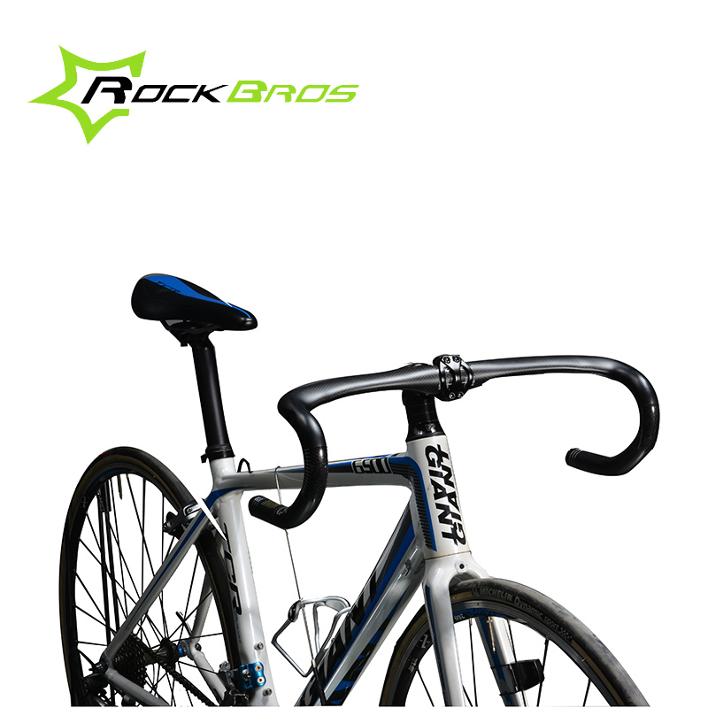 ROCKBROS Ultra-light Cycling Road Bike Handlebar Bent Bar Ultralight Carbon Fiber Bicycle Handlebar 31.8mm*400/420/440 Black road bike bicycle carbon fiber handlebar cycling horns handle bar ultra light high strength handlebar accessories 400 420 440mm