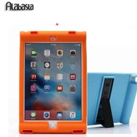 2016 Luxury Shockproof Kids Children Save Protective Back Silicon Loudspeaker Case Cover For Apple Ipad 56