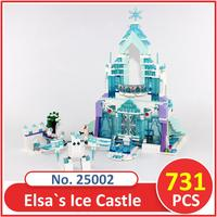 Lepin Building Blocks Model 25002 Compatible Legoes Pricess The Elsa S Magical Ice Castle 41148 Toys