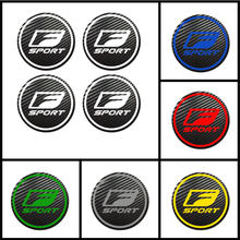 4 stuks voor LEXUS UX CT IS ES GS LS RX LX RC LC Badge Logo Carbon Center Caps Lichtmetalen wielnaaf Stickers Centrale controle sticker(China)