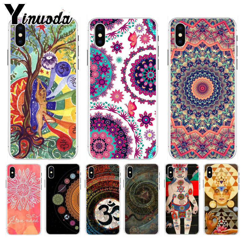 Yinuoda The mandala chakra lovely Phone Accessories Case for Apple iPhone 8 7 6 6S Plus X XS max 5 5S SE XR Mobile Cover
