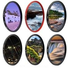 UV ND Star Camera Lens Filter For canon sony nikon 49 52 55 58 62 67 72 77 mm set dslr photography light color 52mm 58mm