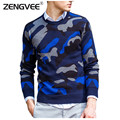 Men Brand Clothing Cotton Slim Comfortable Standard Sweaters O-neck Jacquard Warm Casual Fashion Male Sweater Free Shipping