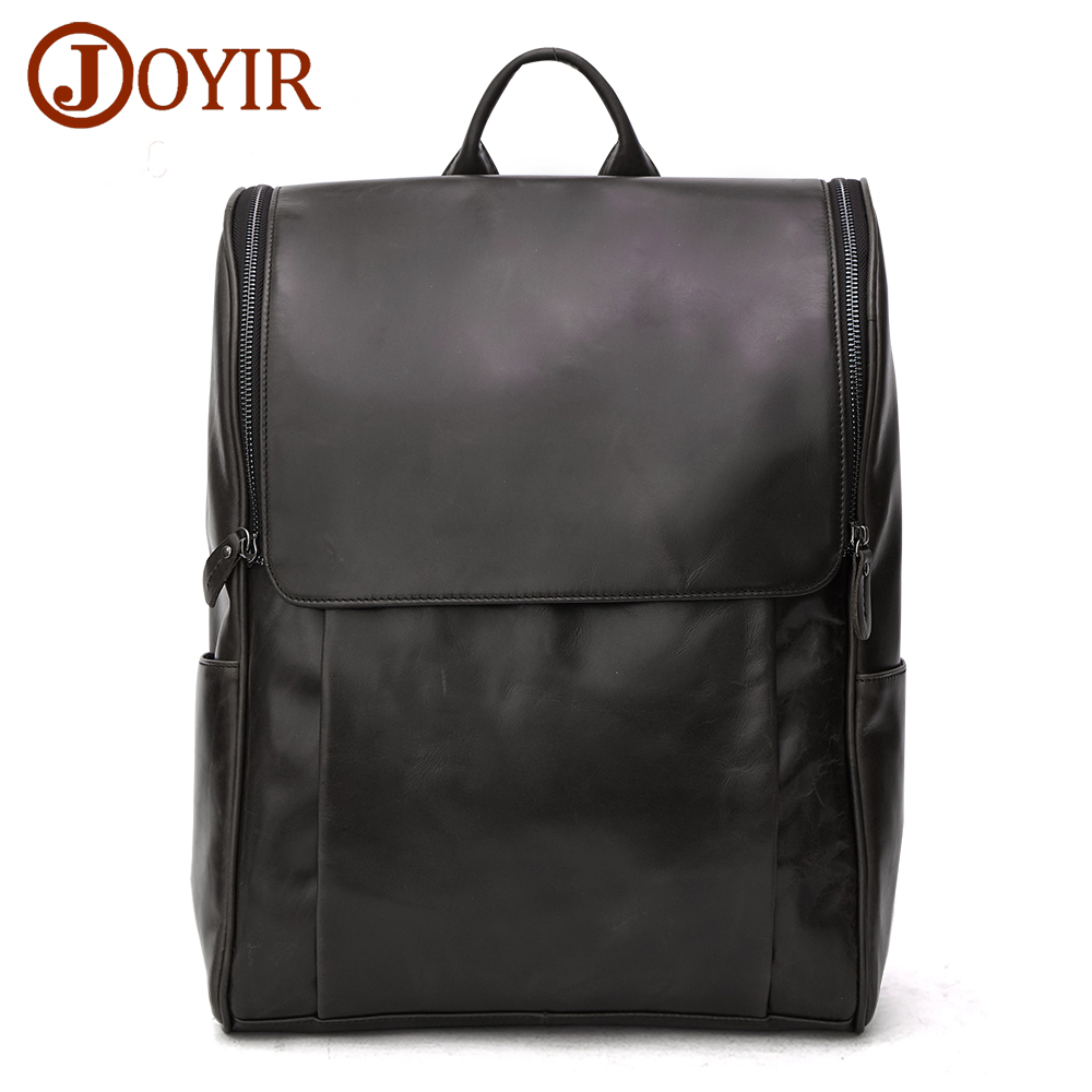 JOYIR Genuine Leather Men Backpack Man Cowhide Leather Causal Backpack Vintage Travel Bags For Men Male Bag 8856 2017 Fashion mva best quality cowhide leather men backpack for fashion travelling bag with genuine leather men backpack or crossbody bags