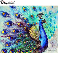 Dispaint Animal peacock Diamond Painting 5D Full Square/Round Drill Home Decor DIY Embroidery Cross Stitch A10257