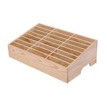 24 Cells Multifunctional Wooden Storage Box Mobile Phone Repair Tool Organizer фото