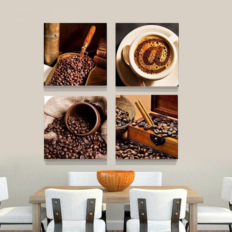 Coffee And Coffee Bean Canvas Prints Modern Wall Art