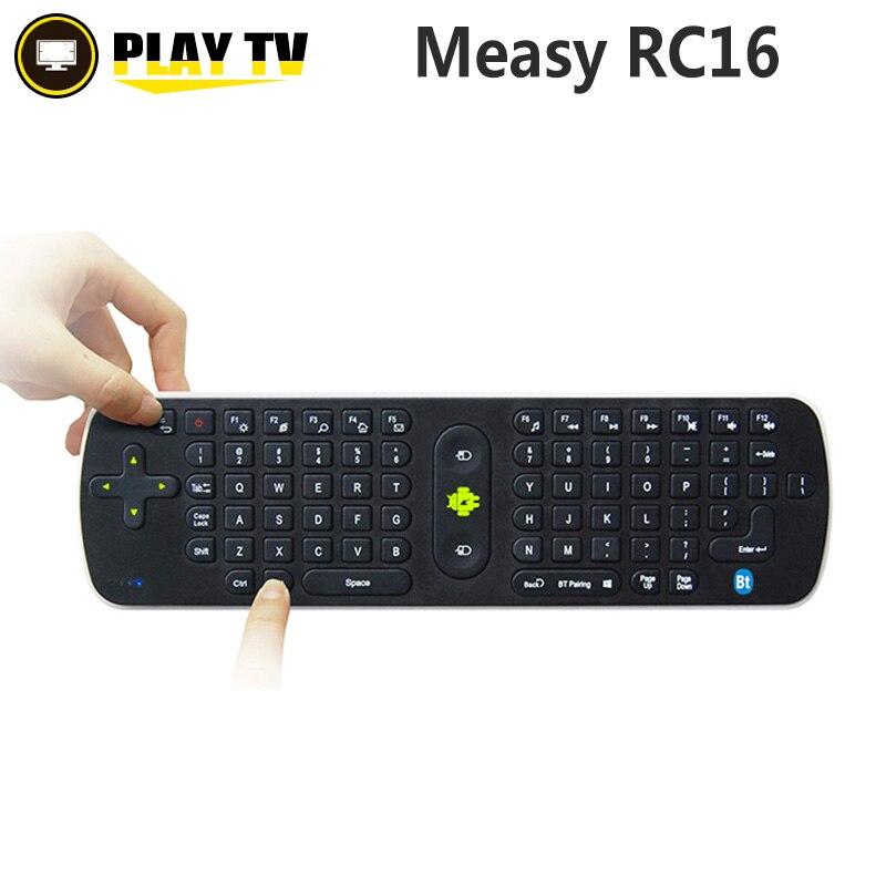 Original Measy RC16 3D+Gyroscope Android Remote Control <font><b>Bluetooth</b></font> 3.0 2.4G Mini Wireless Keyboard Fly <font><b>Air</b></font> <font><b>Mouse</b></font> QWERT 77-Key