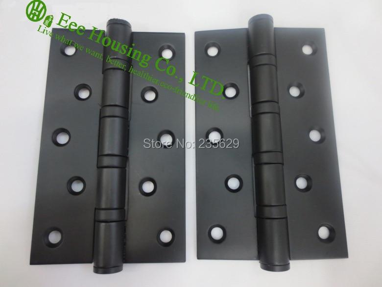 5 polegadas rolamento de esferas preto porta dobradicas dobradicas de aco inoxidavel para portas 5 polegadas