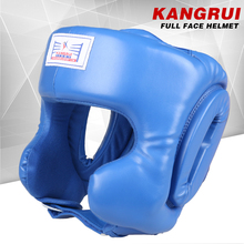 Quality strong durable MMA Helmet Blue Red adult men women fighting taekwondo muay thai kick boxing helmet headgear