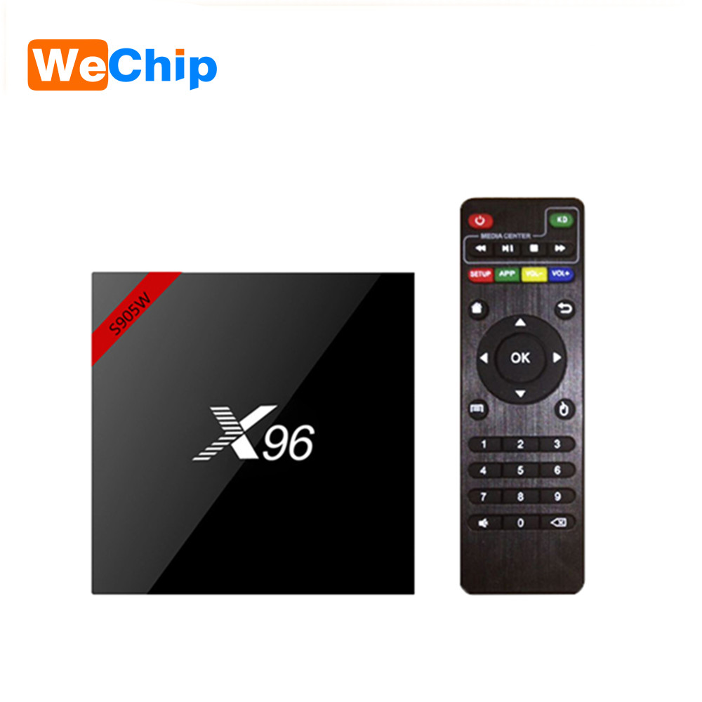 4 k Box X96 X96W Astuto di Android 7.1.2 S905W Quad Core Supporto Bluetooth 4.0 2.4g Wifi Media Player pk x96 mini TX3 mini TV Box