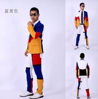 men suits designs classic patchwork stage costumes for singers men sequin blazer dance clothes jacket star style dress punk