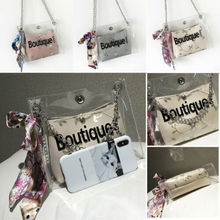 Women Transparent Jelly Bag Fashion Beach Clear Handbag Purse Clutch PVC PU Tote