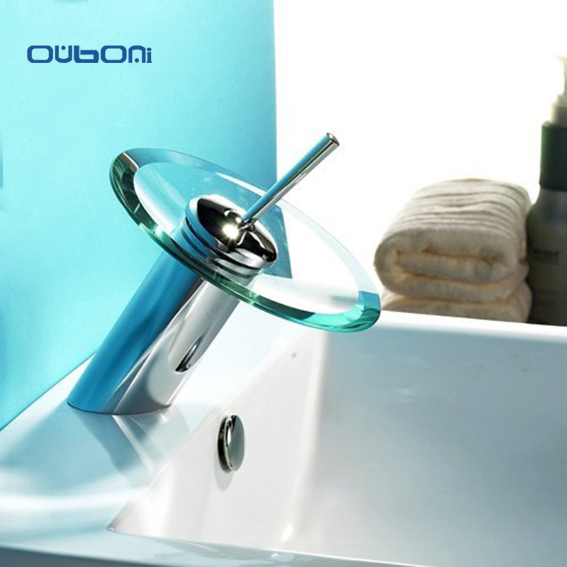 RU Bathroom Basin Mixer Tap Waterfall Faucet Sink Vessel Chrome ...