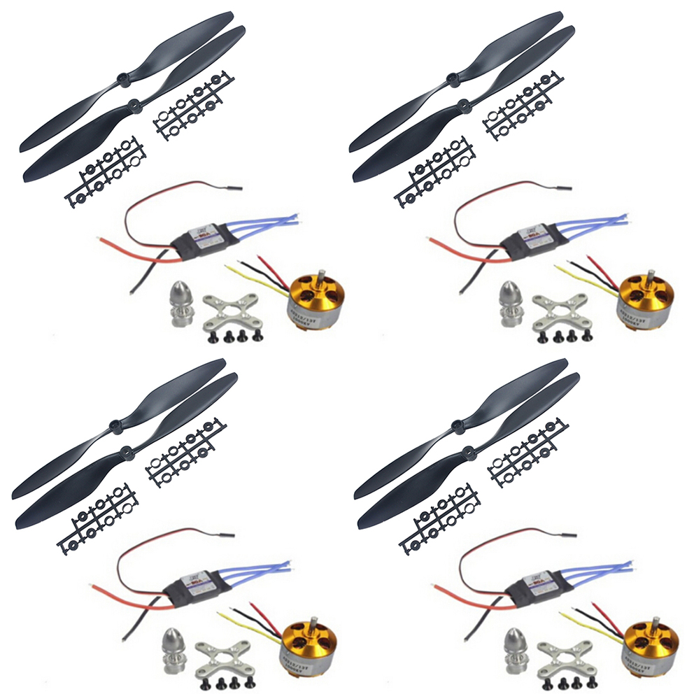 4PCS A2212 1000KV 13T Outrunner Motor & JMT 30A ESC &1045 Prop Propeller For F450 F500 F550 Drone 4set lot a2212 1000kv brushless outrunner motor 30a esc 1045 propeller 1 pair quad rotor set for rc aircraft multicopter