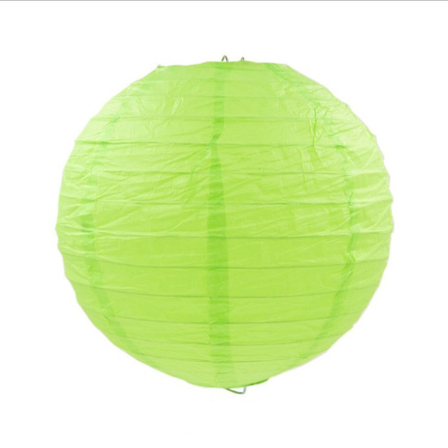Light Green Paper Lanterns Crafts Chinese Traditional Round Ball Kid S Party Decor 7pcs Lot Mixed Sizes 4 16inch