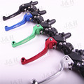 Red Aluminum ASV F3 series 2ND clutch and brake folding handle for most off-road ATV motorcycle pit bike WR KLX CRF YZF
