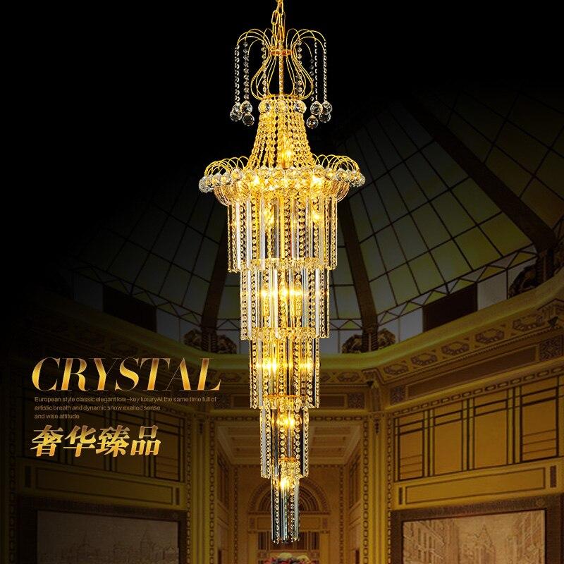 Işıklar ve Aydınlatma'ten Kolye ışıkları'de Dubleks yemek odası Kristal Avize villa merdiven büyük kristal avize otel salonu lüks led kristal avize işık