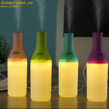 Creative Bottle USB Air Humidifier Colorful night Light Essential Oil Aroma Diffuser Auto Off Touch Switch Mist Maker