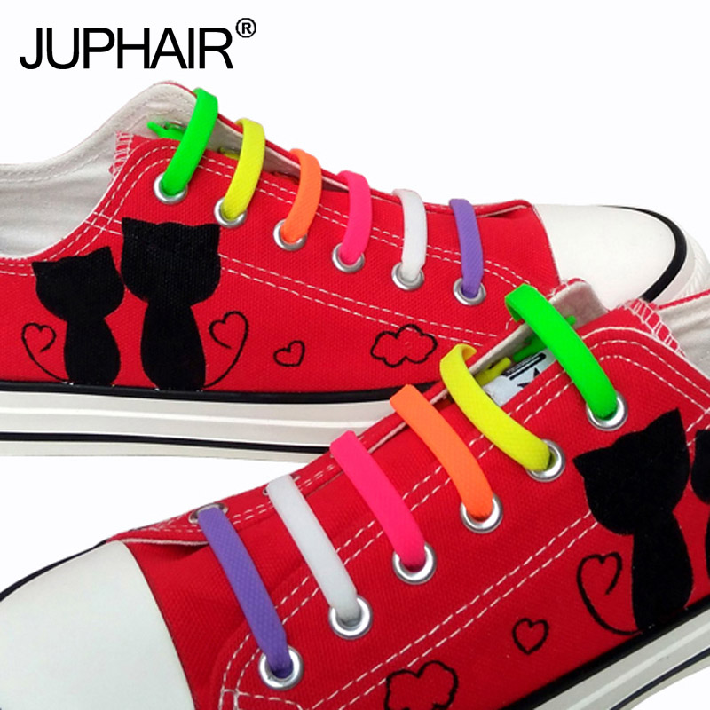 JUP1 Pack 16 Roots Fashion Shoelaces Elastic Lace For Women Men Silicone Lace Silicone Shoelaces All Sneaker Fit Strap Shoelace