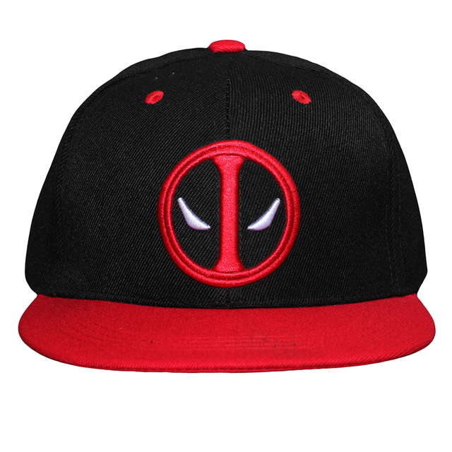 51eaf9f35d715 2016 Movie Deadpool Cosplay Hats Adjustable Embroidery Adult Unisex Hip Hop Baseball  Caps 3 Styles