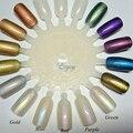 (Mezcla de 5 colores) Efecto de Polvo de Uñas Polaco de la sirena Brillante Magia Rayo Pigmento Nacarado Polvo Diy Uñas de Arte Consejo Decoración