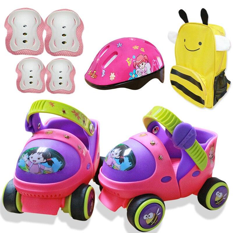 Patin à roulettes pour bébé d'entrée de gamme avec résistance au bouton de sécurité et glissement gratuit