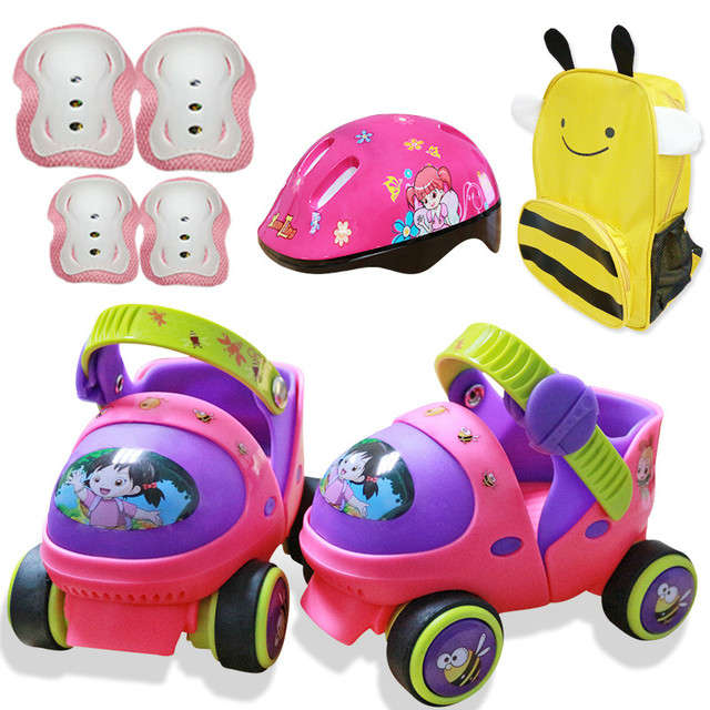 grand choix de e6cfe d15a2 € 29.42 20% de réduction|Patin à roulettes pour bébé d'entrée de gamme avec  résistance au bouton de sécurité et glissement gratuit dans Skate ...