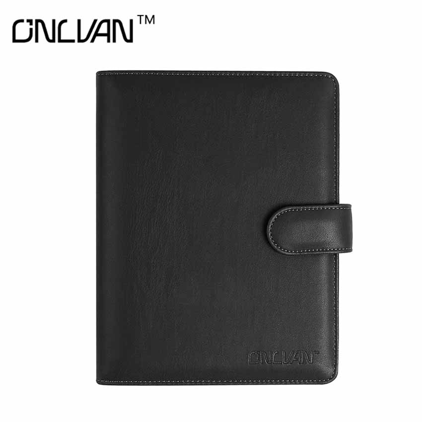 ONLVAN Business Notebook PU Leather Travel Office Supply Travel Accessiores Business Tool New Style Accept OEM Notepad Cuaderno navy color manager notebook with 6000 mah power bank office supply document bags business travel accessories accept oem order