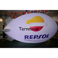 inflatable lighting Advertising Blimp/Airship/Zepplin pvc led blimp for advertising inflatable air balloon with led light