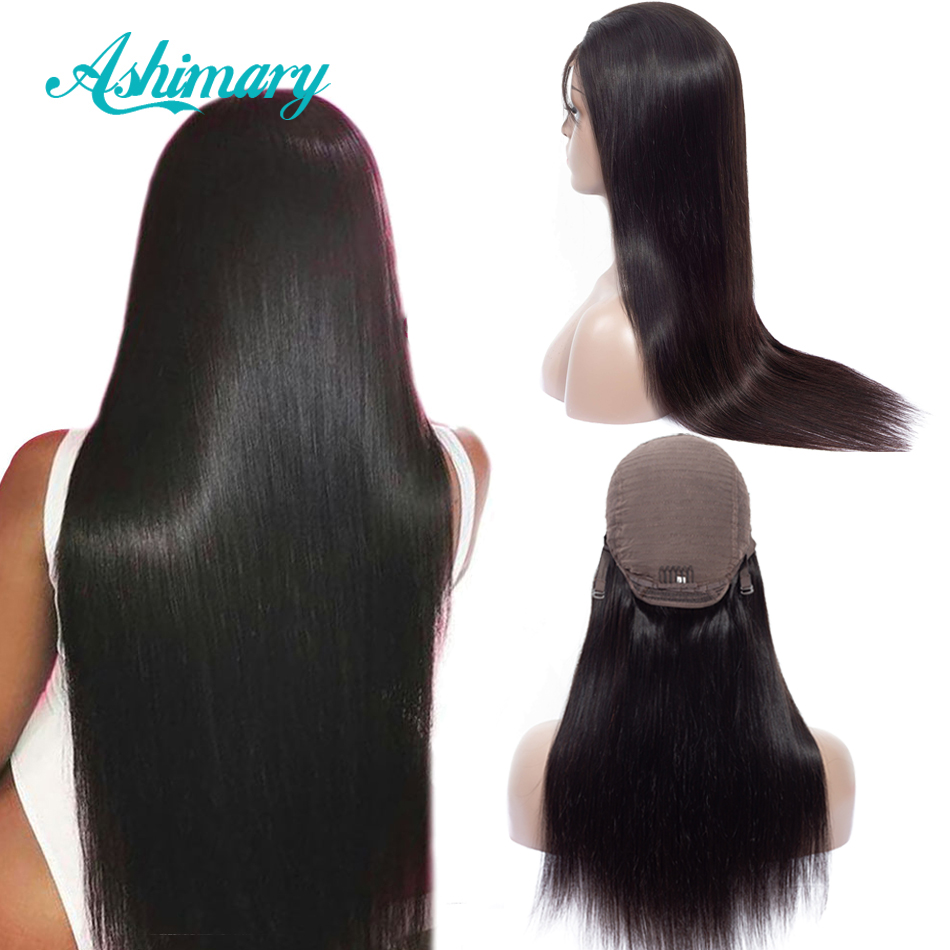 Ashimary Lace Front Human Hair Wigs 4x4 Closure Lace Wigs Remy Brazilian Hair Wigs Straight Lace Front Wig with Baby Hair (China)