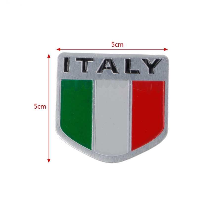 Detail Feedback Questions About Aluminum Italian Flag Car Sticker