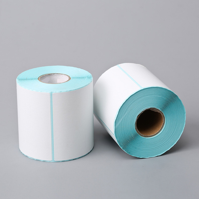 Pos 108mm 4 pulgadas etiquetas térmicas papaer pegatinas Etiqueta de código de barras rollo de papel blanco 100*100*500 o 100*150*250 o 100*150*500
