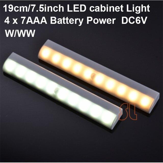 Led Motion Seonsor Stick On Rigid Bar Cabinet Light Stair Step Wall 10leds Battery Ed Free Shipping
