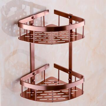 Dofaso Stainless Aluminum Copper Metal Shower Rack Use For Corner Shelf Bathroom Bath Basket In Shelves From Home Improvement On