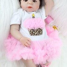 Realistic 55cm Full Silicone Bebe Reborn Baby Girl Lovely 22