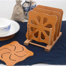 Well Insulated Wooden Insulation Mats Have A Variety of Styles Innovative Non-Slip Table Heat Resistant Kitchen Coasters